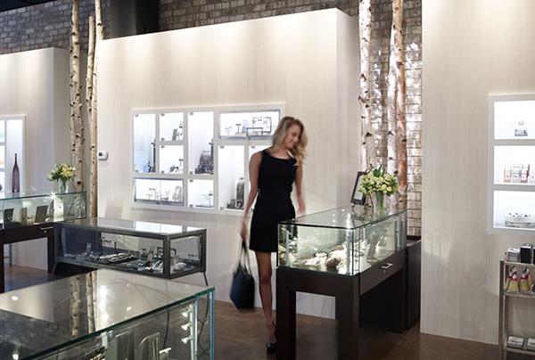 Women shopping in jewelry store