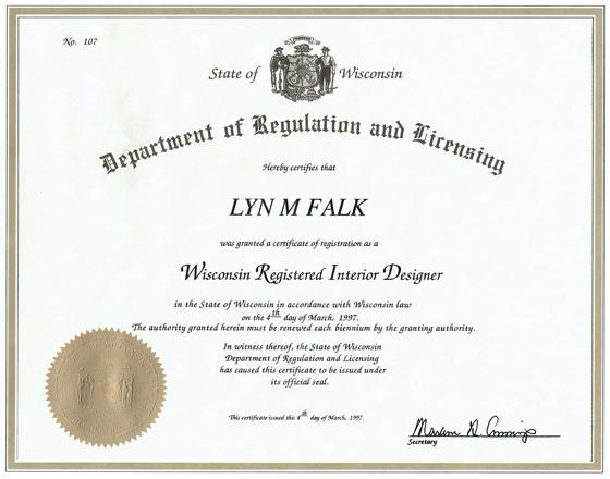 Lyn Falk Certification