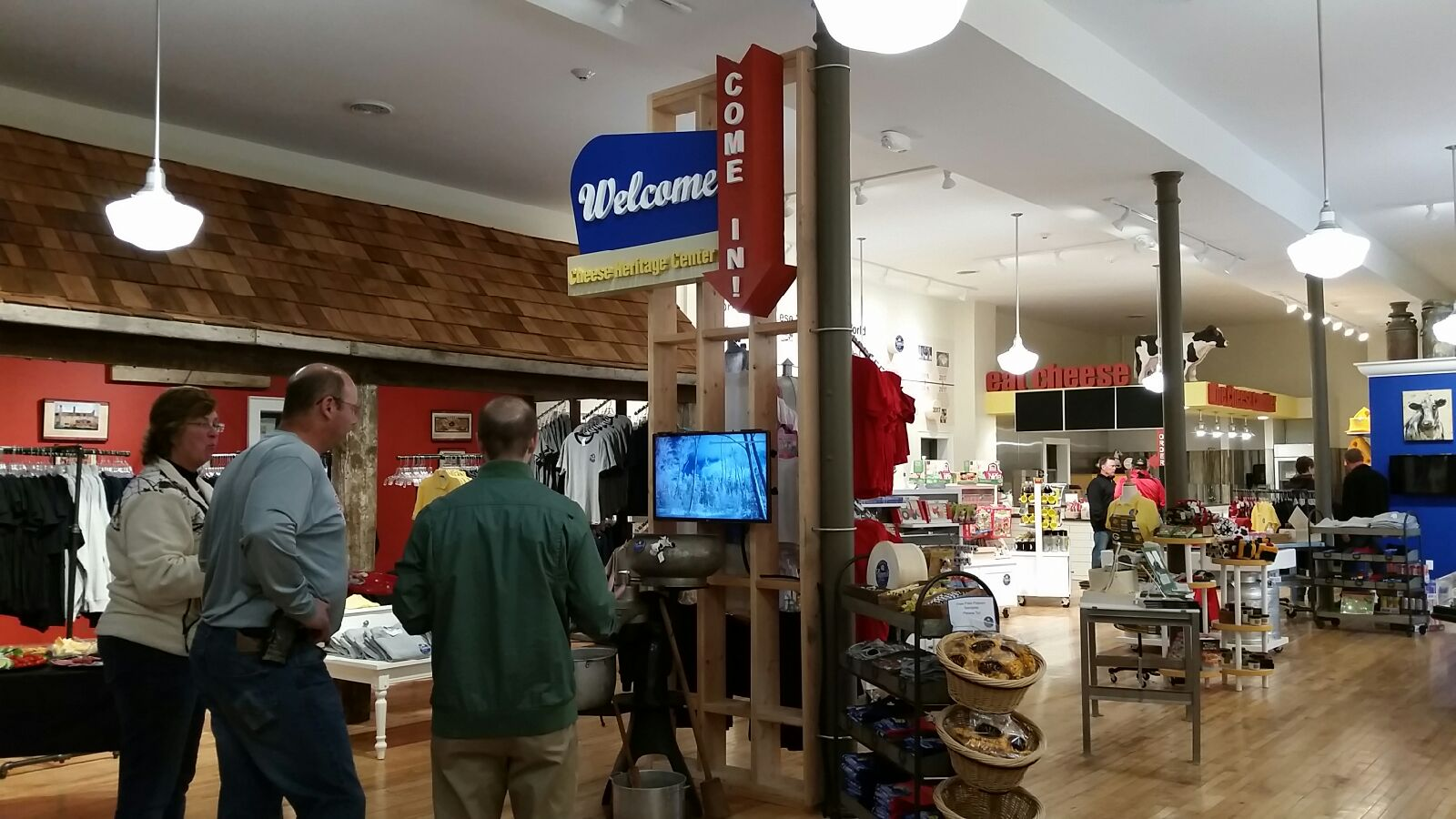 Interactive displays at the Dairy Heritage Center in Plymouth, Wisconsin