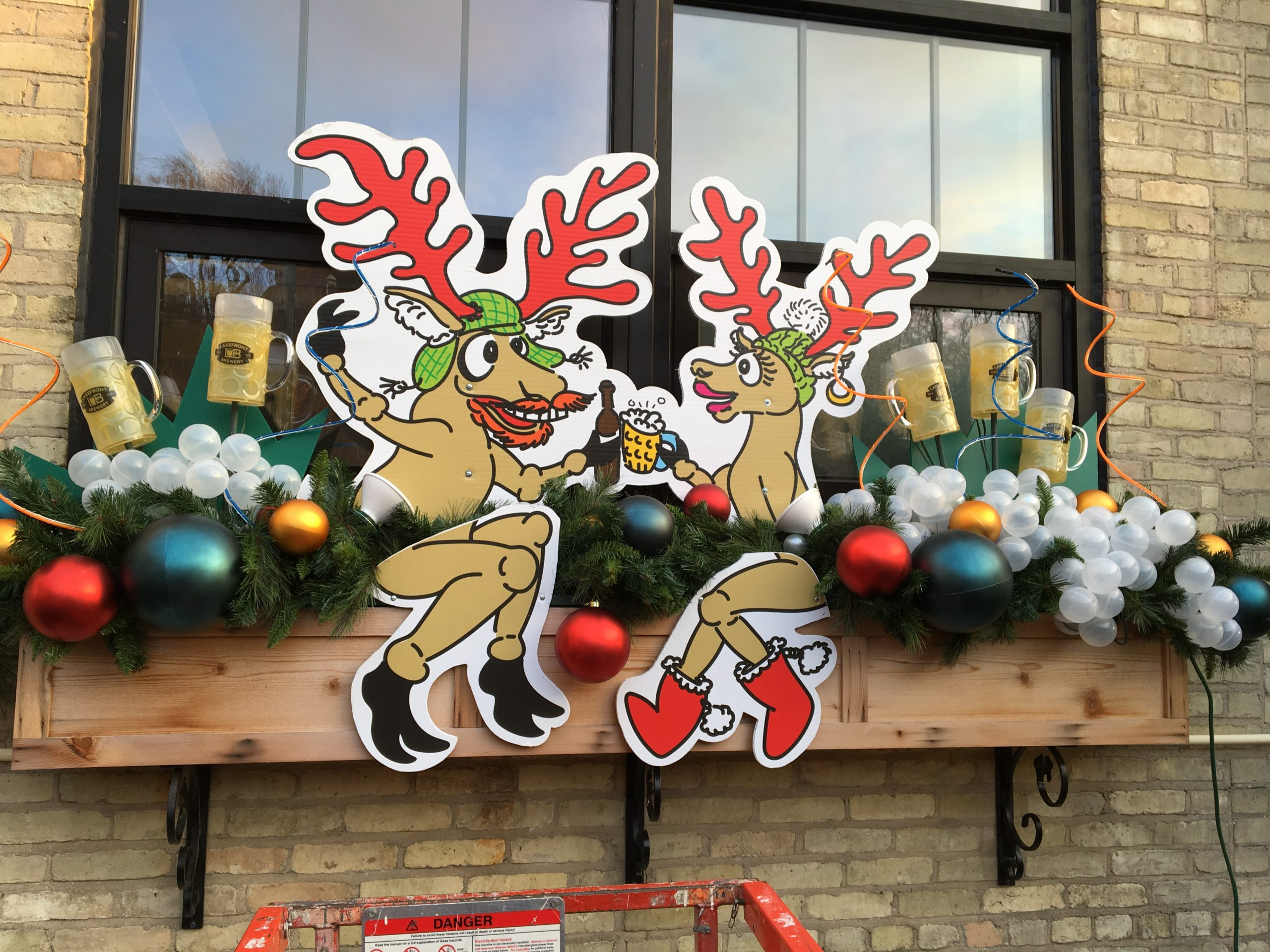 lakefront brewery window boxes