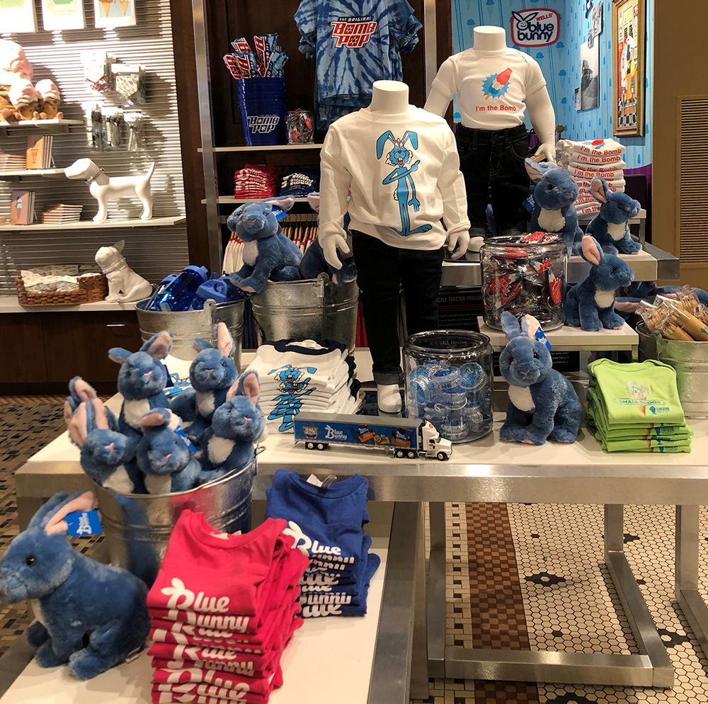 blue bunny display