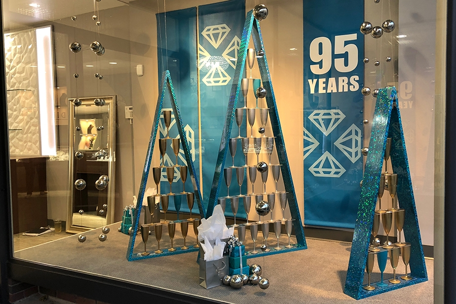 diedrich jewlers 2018 holiday window display