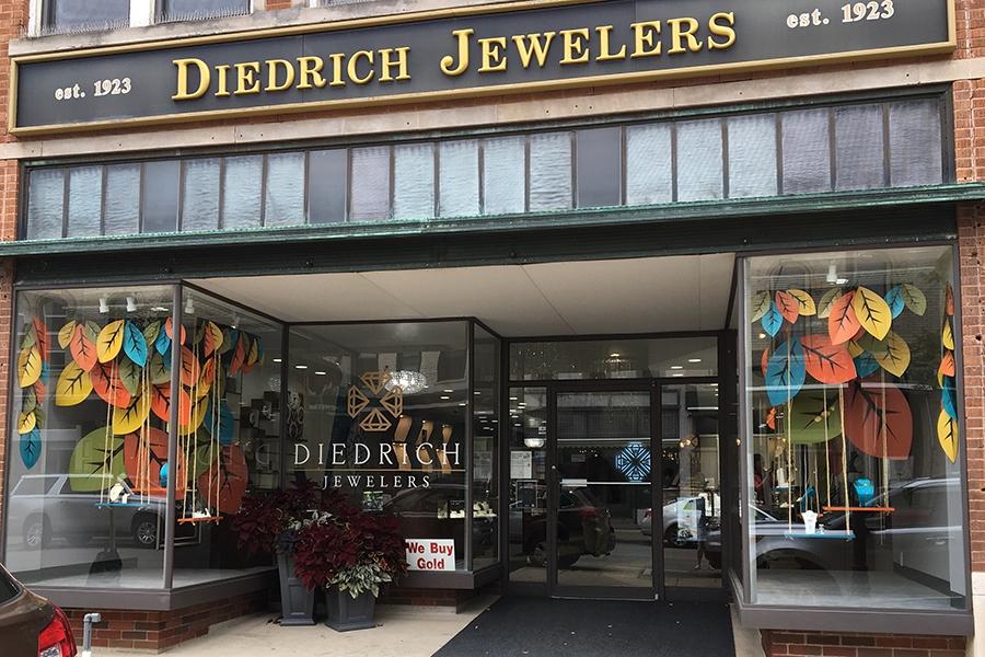 diedrich jewelers 2019 fall window display