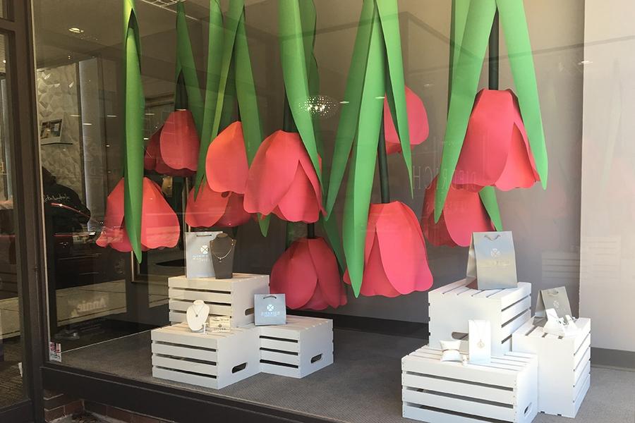 diedrich jewelers 2019 spring window display