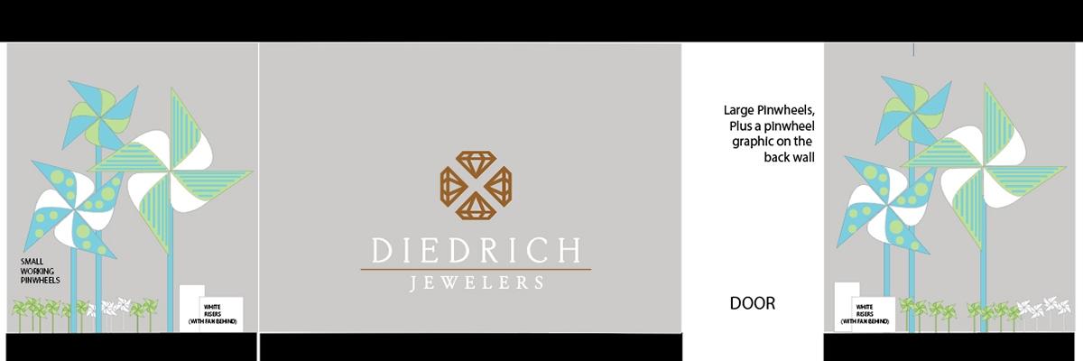 diedrich jewelers 2019 summer window display