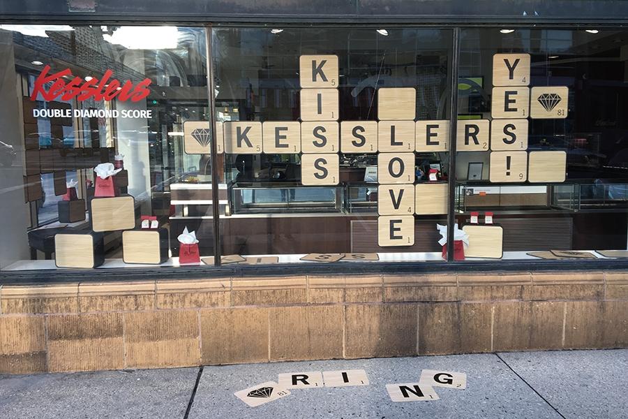 kesslers diamonds 2018 spring window display