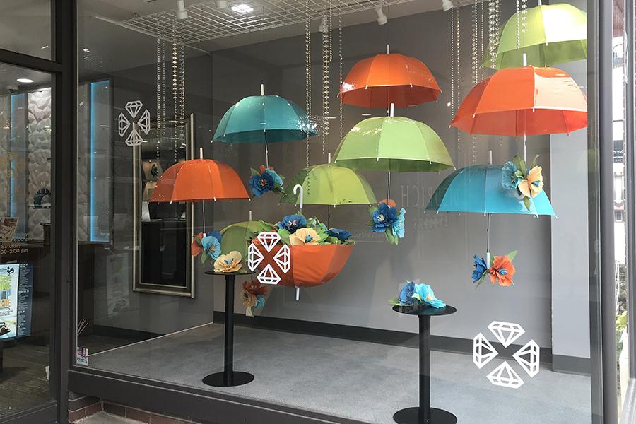 diedrich jewelers 2020 spring window display