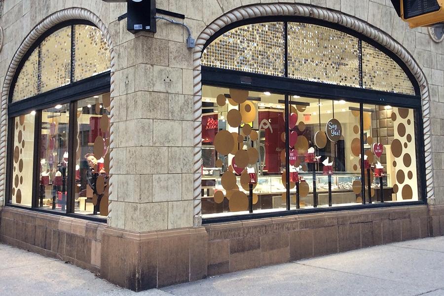 kesslers diamonds 2016 winter window display