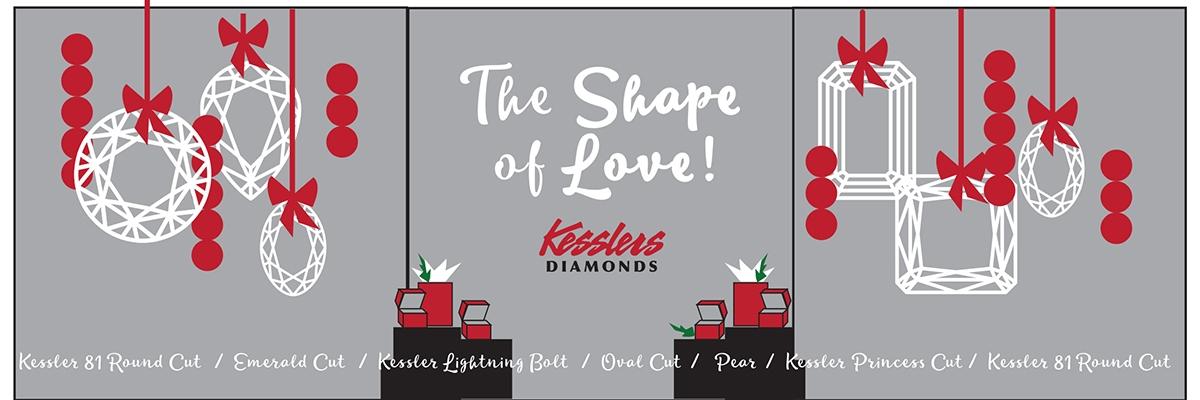 kesslers diamonds 2019 holiday window display