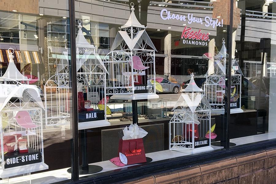 kesslers diamonds 2019 spring window display