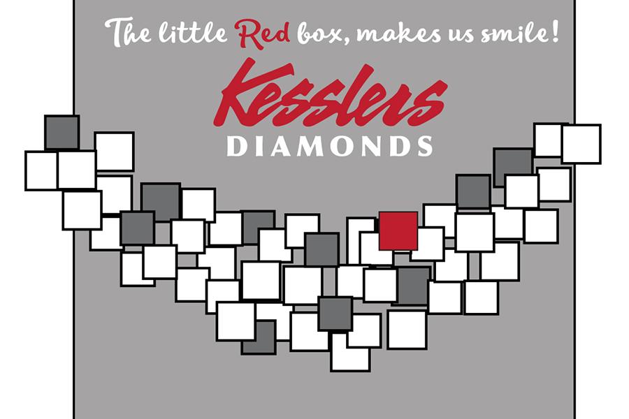kesslers diamonds 2020 winter window display