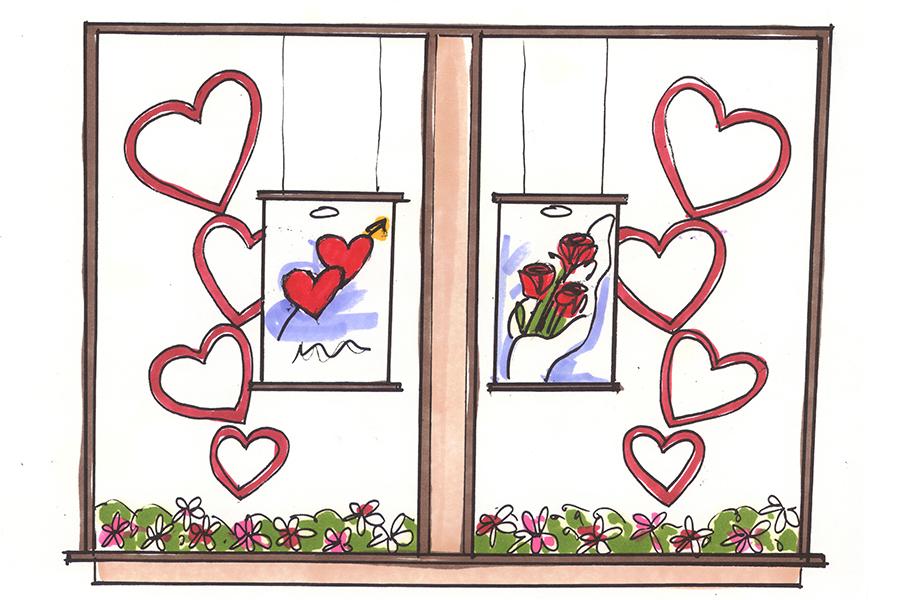 pharmasave valentine's day visual merchandising
