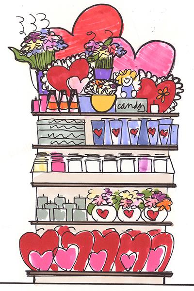pharmasave valentine's visual merchandising