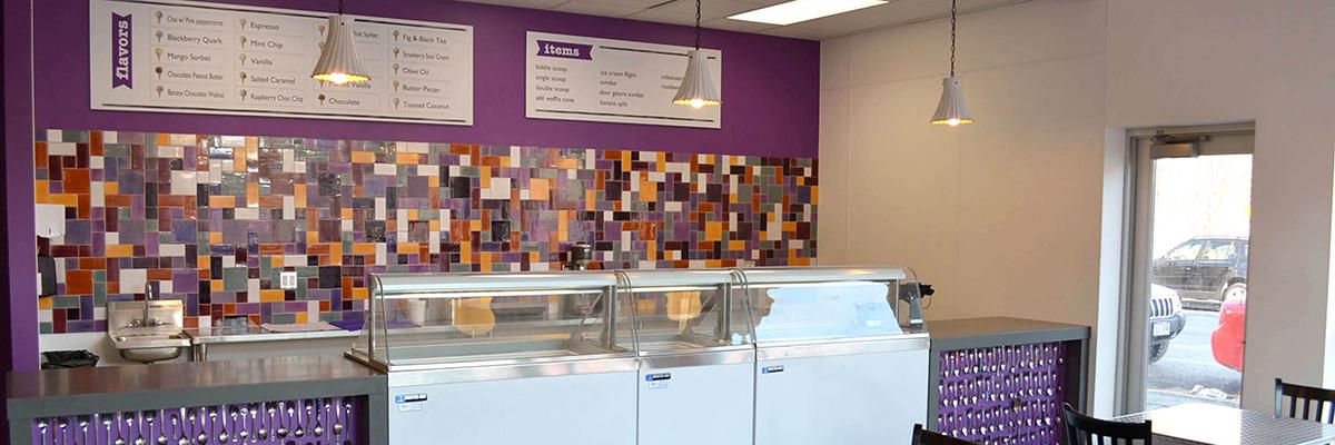 purple door ice cream banner