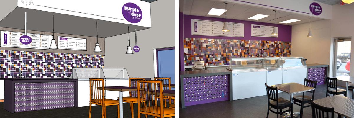 purple door ice cream rendering