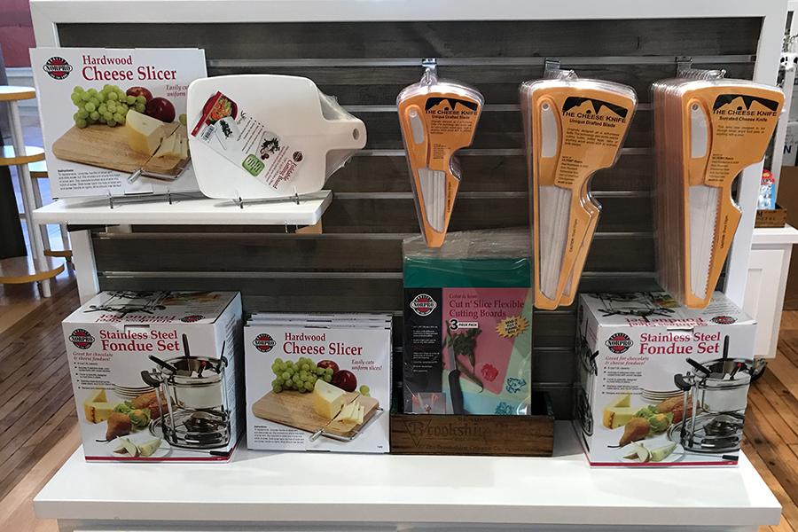 cheese counter & dairy heritage center visual merchandising