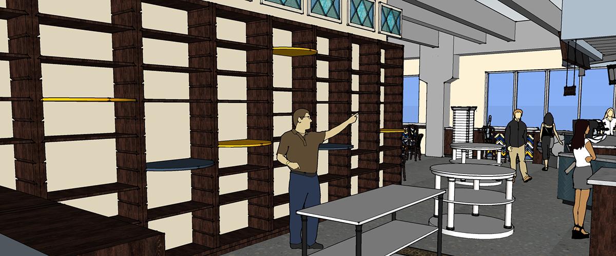 tribeca gallery café & books interior design