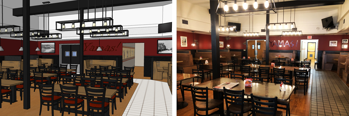 ted's restaurant interior design
