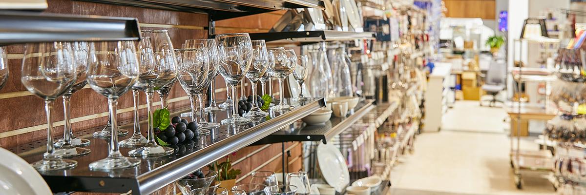 glassware visual merchandising