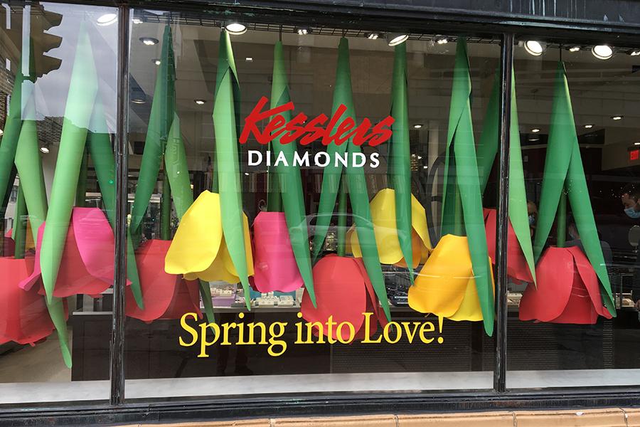 kesslers spring tulip window display
