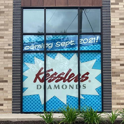 kesslers diamonds coming soon window graphics