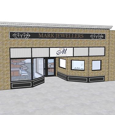 mark jewellers storefront design