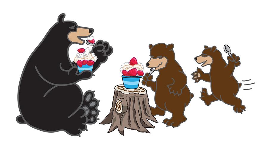river valley coop bear illustration